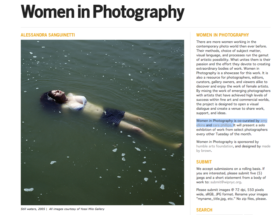The Women In Photography Website