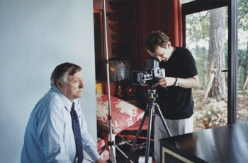 Chirs with William F. Buckley Jr., 2004, photo by Paul Draine