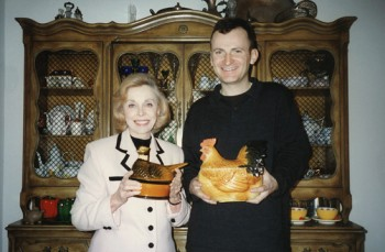 Chris with Dr. Joyce Brothers, Fort Lee, NJ, 1996, photo by Paul Costello