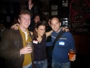 Nathan Lee Bush, Sari Goodfriend, David Friedman, (Brandon Remler in background)