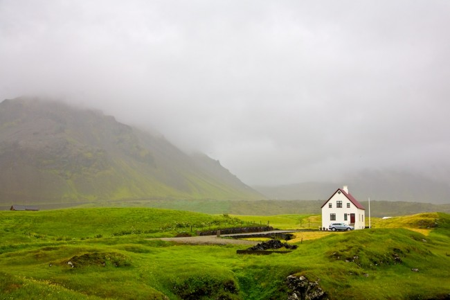 """Gentle Touch of a Cloud"" - rainy day in Iceland"