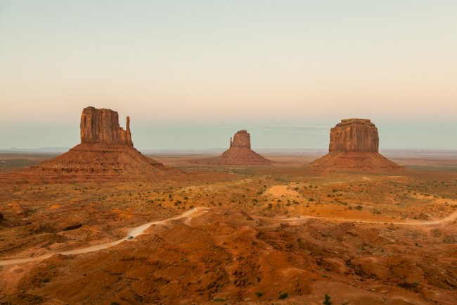 """Monumental Sunset"" - soft sunset tones in Monument Valley, USA"