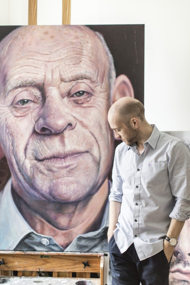 I really like this shot of Derren Brown standing in front of a painting he has done of his father. I think it captures a moment which shows his personality, which is actually quite shy, and also that it showcases the fact that he is an amazing portrait painter which not a lot of people know him for.
