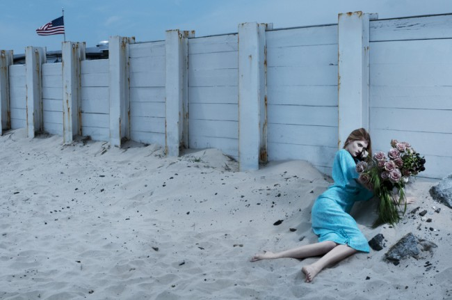 Campaign for womenswear label Skotison. We absolutely loved the concept of the collection: B-list horror movies, The Cramps and goths at the beach.