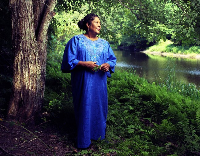 Portrait of poet Marilyn Nelson at the Soul Mountain Retreat, a writer's colony she started in East Haddam, Connecticut. Commissioned by Oprah Magazine.