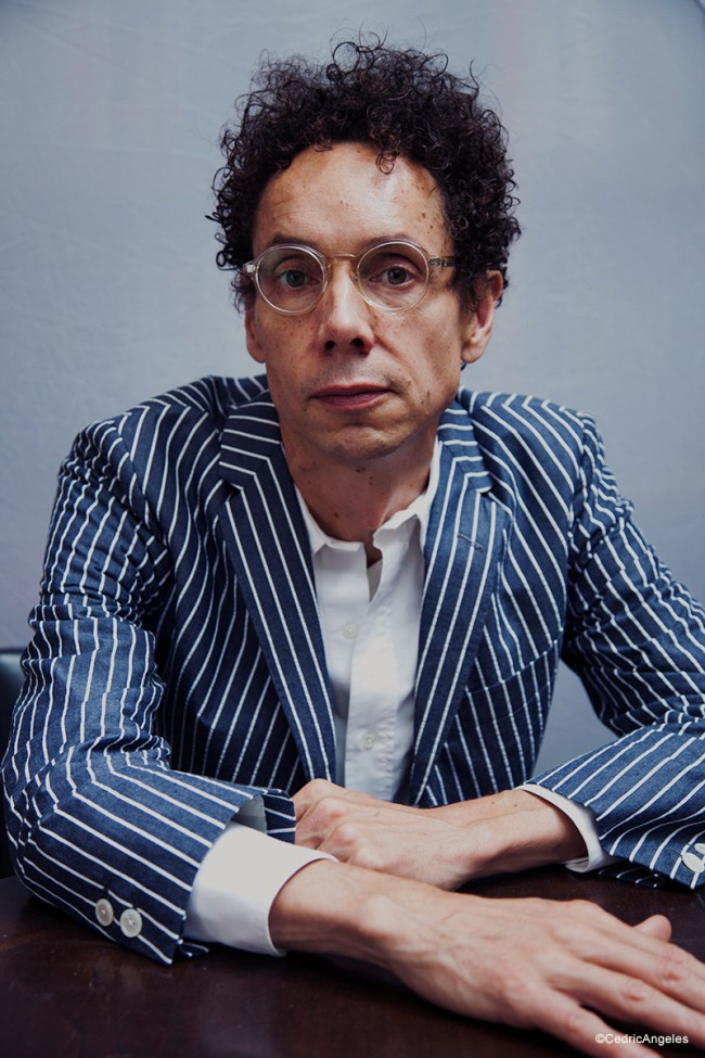 Portrait of writer Malcolm Gladwell for RED Magazine. Photographed in his apartment in Manhattan.