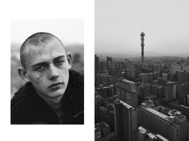This is one of my favorite images, I find the similarities between his face and Johannesburg cityscape really moving. His eyes and scarred face tells the story of the beauty, pain, struggle, and resilience of the still young S. Africa. something about it really gives me hope.