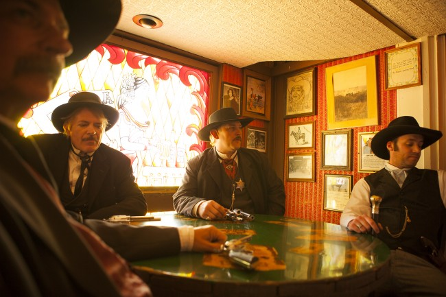 Photographing Cochise County, Arizona for National Geographic Traveler has been one of my favorite assignments to date. Such a strange, wild place where history and the modern day converge. These cowboy actors relaxing in a saloon before their daily gun battle at the OK Corral in Tombstone.