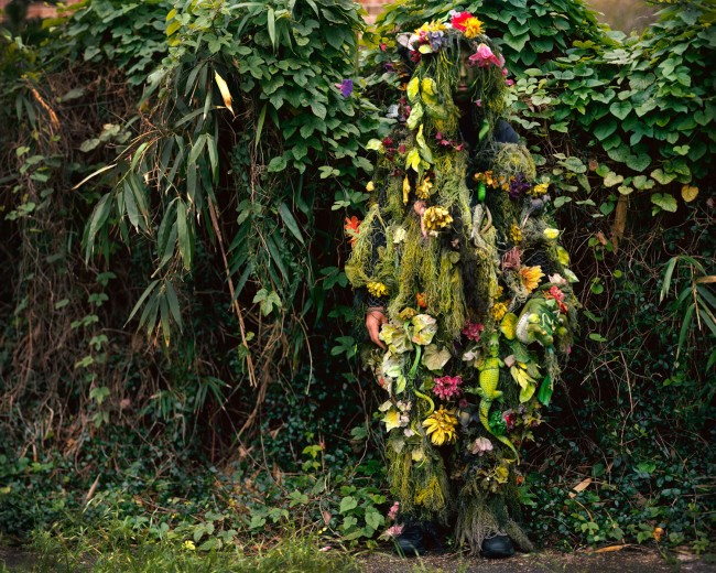 Also for In the Southern Garden -- Swamp Thing is a street performer in the French Quarter.