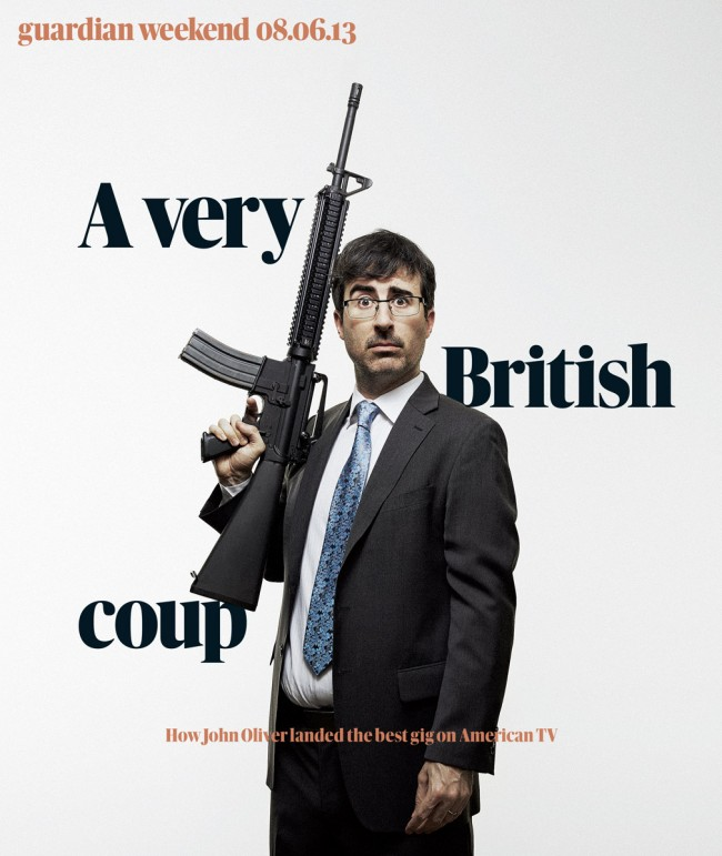 Comedian John Oliver for The Guardian.