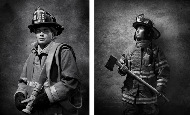 Firefighters photographed for South Magazine.