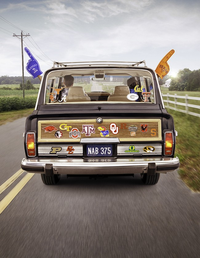 """On The Way to Saturday"". Campaign featuring college football mega-fans for BBDO."