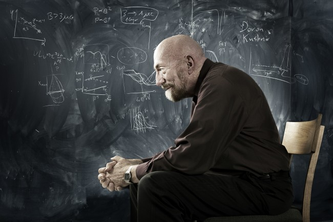 Kip Thorne, Theoretical Physicist. Photographed for science magazine, Newton.