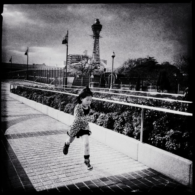 Self-Metaphors series: A girl in Osaka, one of my home towns. Osaka, Japan, 2014.