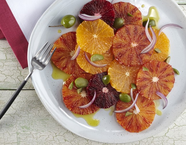 A simple citrus salad, I love the colors and shapes in this dish.
