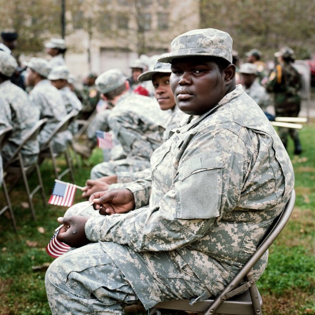 Veterans Day Parade, Baltimore, MD. From the series, These City Streets.