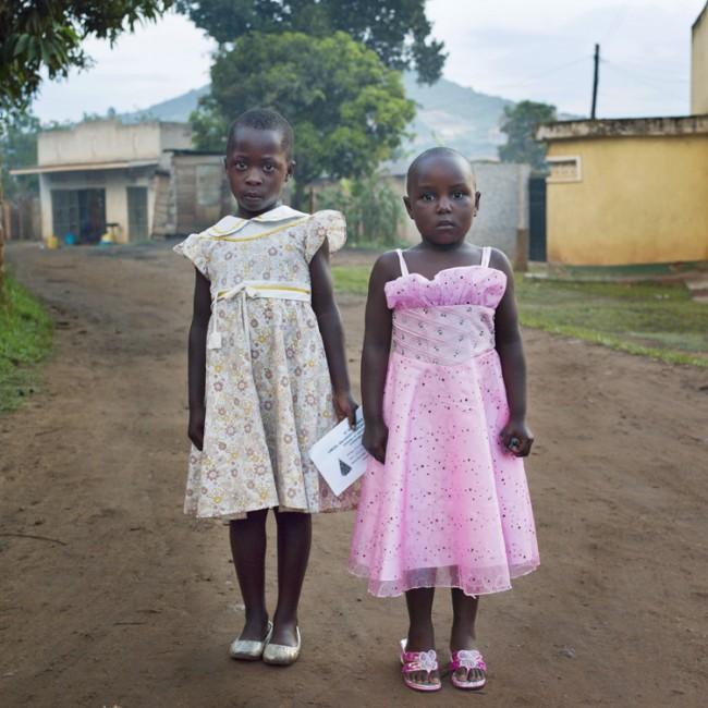 Girls in Sunday Dresses