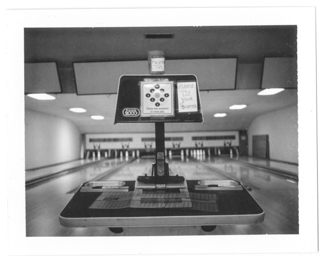 9-Pin bowling in Blanco, Texas, at the Blanco Bowling Club and Cafe.