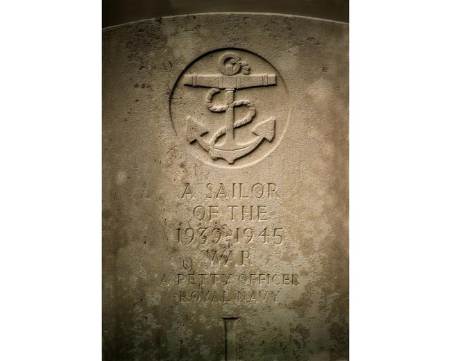 02 Royal Navy Tombstone LaBaule France