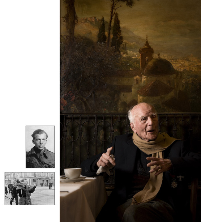 11 Burn at Munich cafe where he met Hitler, POW photo