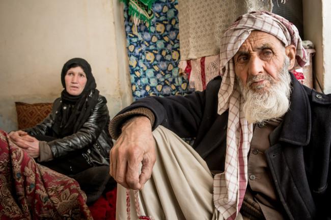 Zarghona and Ghulam-Faroq, her 92 year old husband.