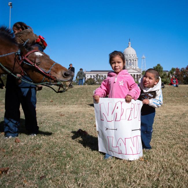 Protest of Oklahoma Statehood Centennial—Oklahoma State Capital