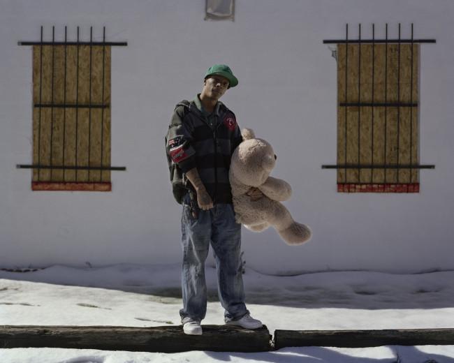 Boy with Teddy Bear 001