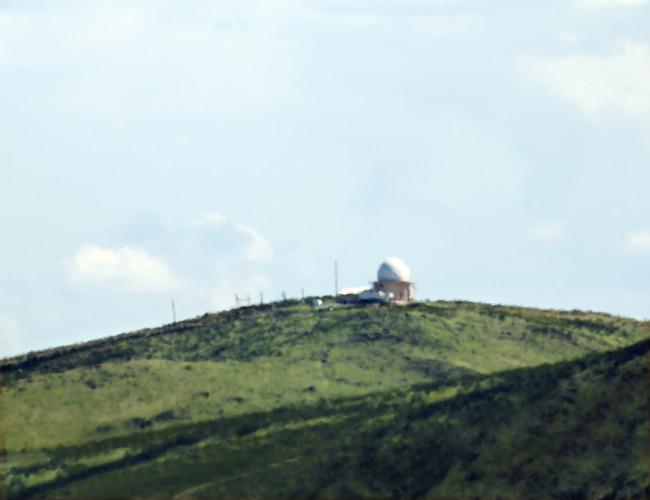 No. 103 National Reconnaissance Office Ground Station (ADF-SW) Jornada del Muerto, New Mexico Distance ~16 Miles, 2012 C-print Trevor Paglen; Metro Pictures, New York; Altman Siegel, San Francisco