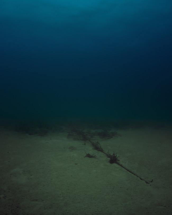 No 172 Bahamas Internet Cable System (BICS- 1)  NSA/GCHQ-Tapped Undersea Cable Atlantic Ocean 2015 C-print  Trevor Paglen; Metro Pictures, New York; Altman Siegel, San Francisco