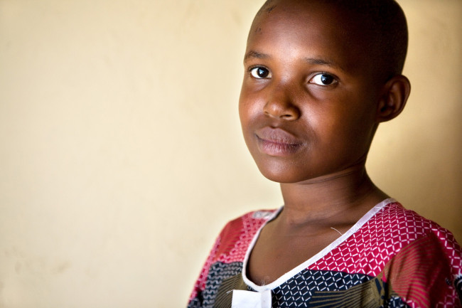 A 12 year old girl orphaned by the genocide in Rwanda