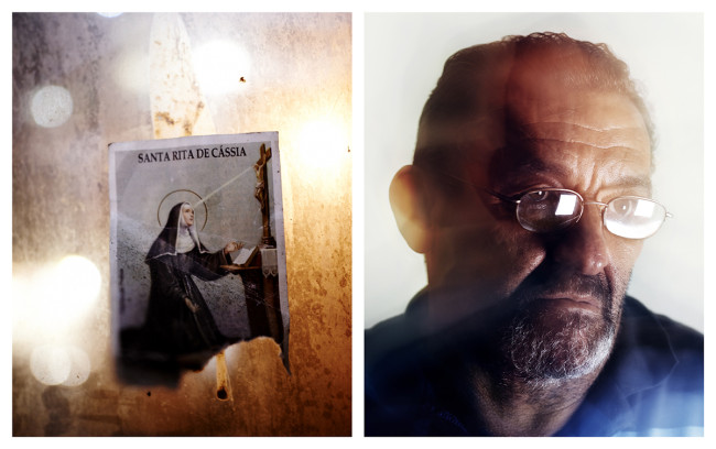 Patron Saint of Impossible Causes, Saint Rita de Cassia, is glued on the window overlooking the room; João, a kindergarten teacher has just become a grandfather. He has given up his home so that his daughter and grandchild have a better start in life.