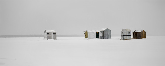 "Ice Village # 35, Georgina, Lake Simcoe, Ontario, 2012 - From the Series ""Ice Huts"" by Richard Johnson © 2007-2016 Richard Johnson Photography Inc, www.icehuts.ca, 416-755-7742"