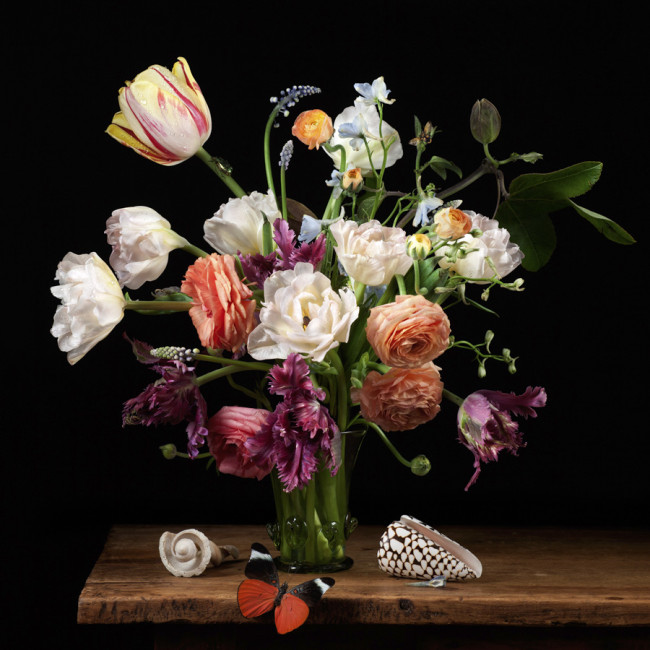 Paulette Tavormina_Flowers and Butterfly_GVS_2012