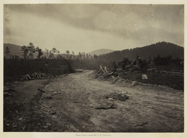 George N. Barnard, Buzzard Roost, Georgia, from Photographic Views of Sherman's Campaign, 1866; albumen print; 10 x 14 1/8 in. (25.4 x 35.88 cm); Promised gift of Paul Sack to the Sack Photographic Trust