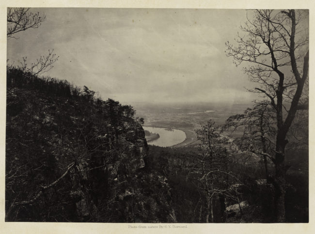 George N. Barnard, Chattanooga Valley from Lookout Mountain, No. 2, from Photographic Views of Sherman's Campaign, 1864 or 1866; albumen print; 10 1/16 x 14 3/8 in. (25.56 x 36.51 cm); Promised gift of Paul Sack to the Sack Photographic Trust