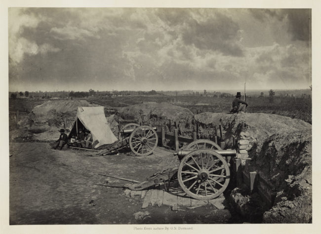 George N. Barnard, Rebel Works in Front of Atlanta, Georgia, No. 4, from Photographic Views of Sherman's Campaign, 1864; albumen print; 10 x 14 1/8 in. (25.4 x 35.88 cm); Collection of the Sack Photographic Trust