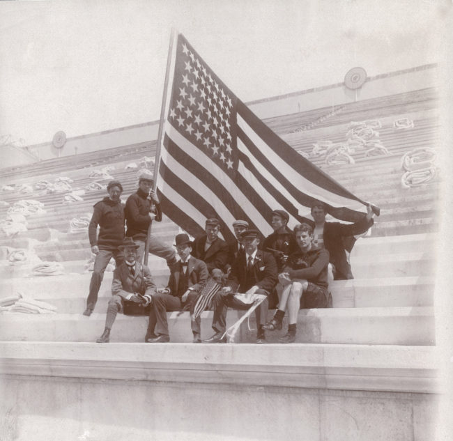 Thomas Pelham Curtis (American, 1873–1944). American Olympic Team at the 1896 Athens Olympics, 1896. Vintage photograph, 4 3/4 x 4 1/2 in. (12.1 x 11.4 cm). Collection of Thomas Pelham Curtis II