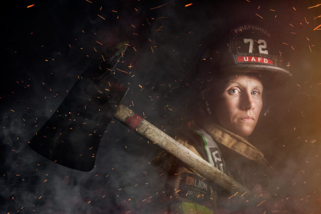Mindy Gabriel, firefighter